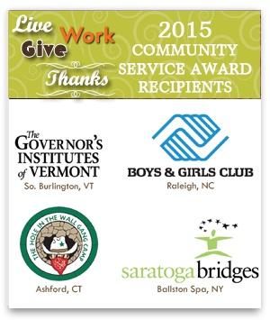 2015 Community Service Award Recipients