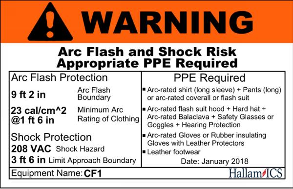 Arc Flash Warning