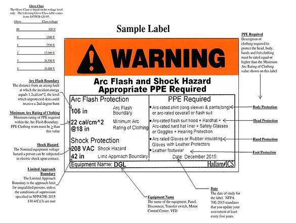 Sample Arc Flash Label