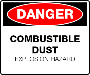 Danger Combustible Dust