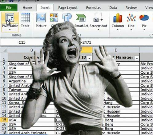 Excel running and screaming