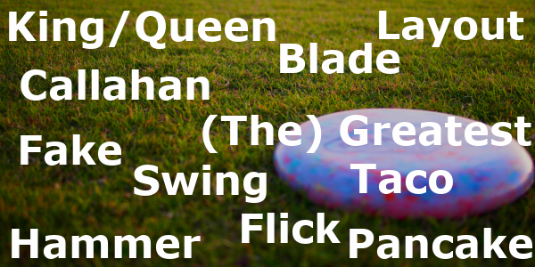 Frisbee Terms