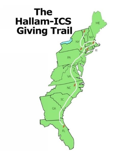 The Hallam-ICS Giving Trail