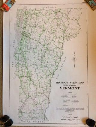 Vermont Transportation Map