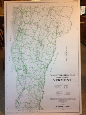 Vermont Official Road Map