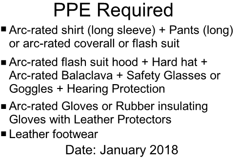 PPE Required