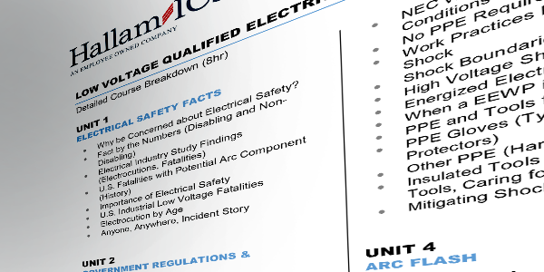 Qualified electrical safety training syllabus1