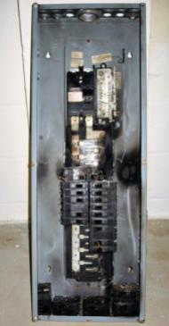burned panel board