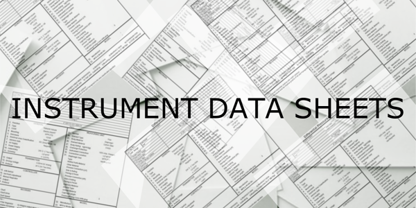 Instrument data sheets