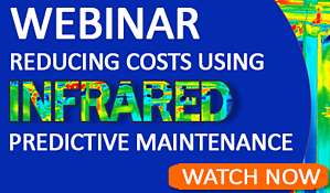 home page WEBINAR Watch Now reducing costs with IR predictive maintenance