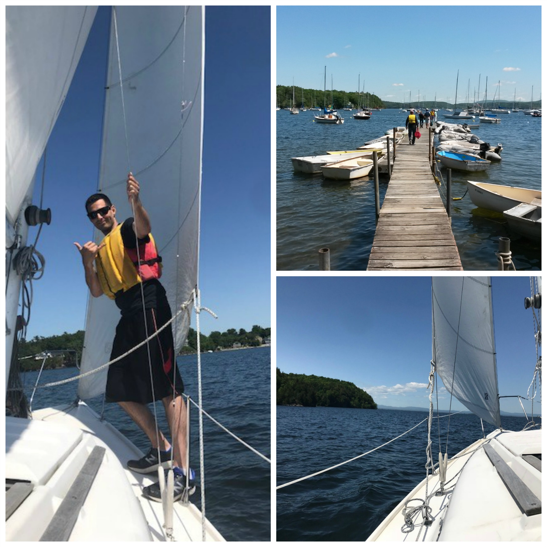 Sailing Lake Champlain