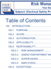 sample TOC electrical safety training thumb