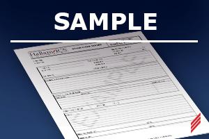 sample bench test form