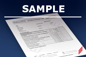 sample material receipt form