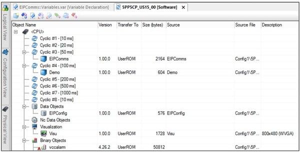 EIPComms Software Configuration Deployment
