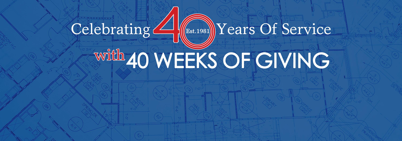 40th anniversary 40 week of giving hero8