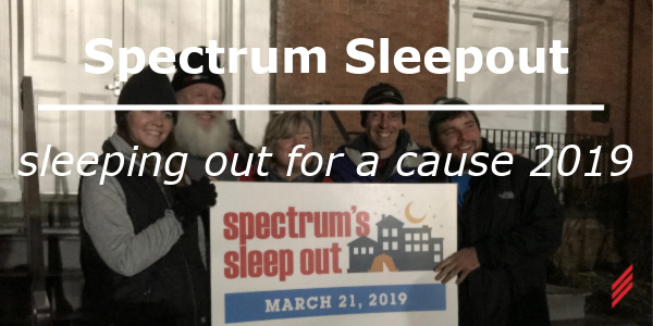 Spectrum Sleep Out-Sleeping Out For A Cause 2019