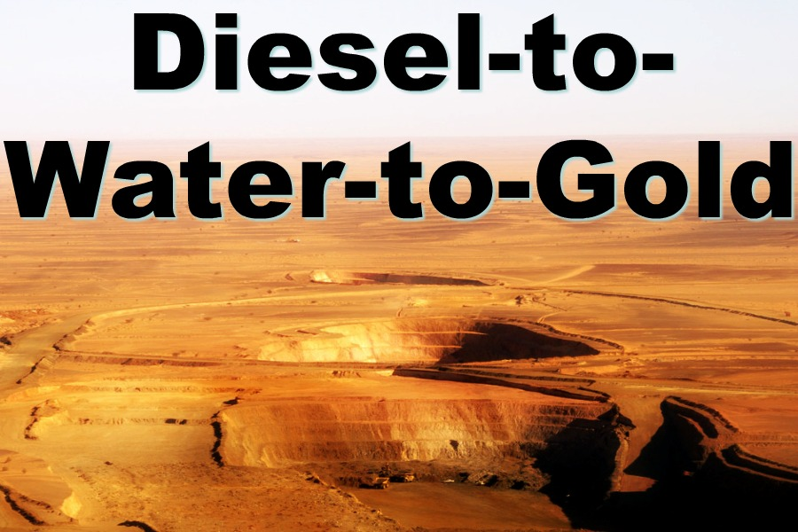 Diesel–to-Water–to-Gold