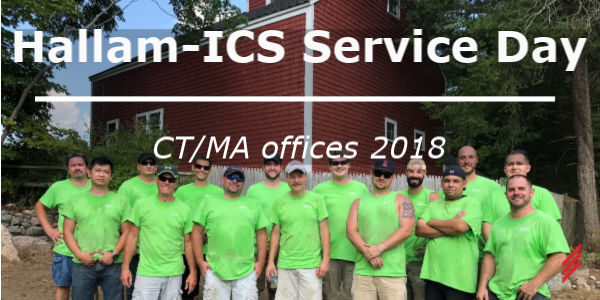 Hallam-ICS Service Day – CT/MA Offices 2018