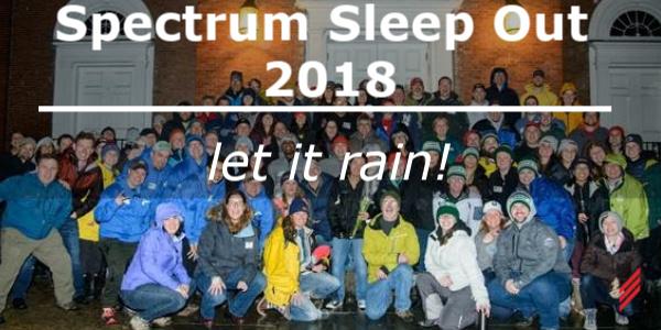 Spectrum Sleep Out 2018 – Let it rain!